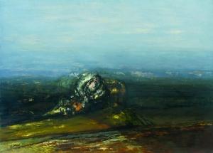 S/T. Óleo sobre tabla 69 x 100 cm. Colección particular.