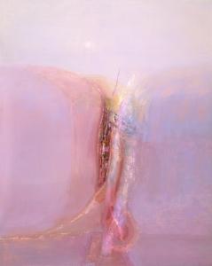 Ser placentero (1996). Óleo sobre lona 162 x 130 cm. Colección particular.