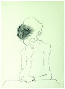 S/T. Tinta sobre papel 31 x 23 cm. Colección particular.