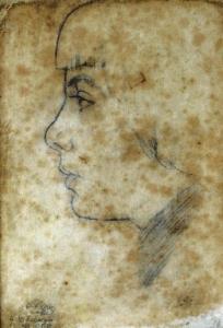 Loli (1950). Lápiz sobre papel 23 x 16 cm. Colección particular.