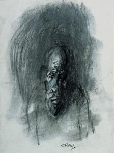 S/T. Carboncillo y témpera sobre papel 18 x 14 cm. Colección particular.