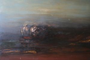 El lago de la melancolía. Óleo sobre lienzo 75 x 103 cm. Colección particular.