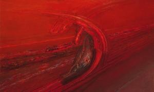 Transbordadr de hidro (1991). Óleo sobre lienzo 147 x 235 cm. Colección particular.