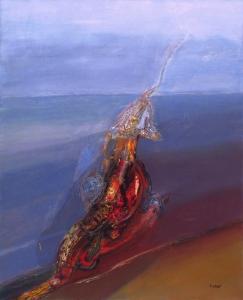 El país del veneno (1995). Óleo sobre lienzo 162 x 130 cm. Colección particular.