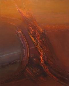 S/T (1995). Óleo sobre lienzo 162 x 130 cm. Colección particular.