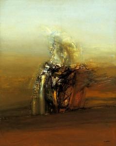 Espectro en el paraíso (1981). Óleo sobre lienzo 162 x 130 cm. Colección particular.