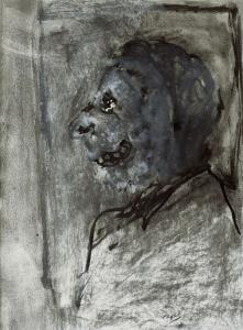 S/T. Carboncillo y témpera sobre papel 30 x 22 cm. Colección particular.