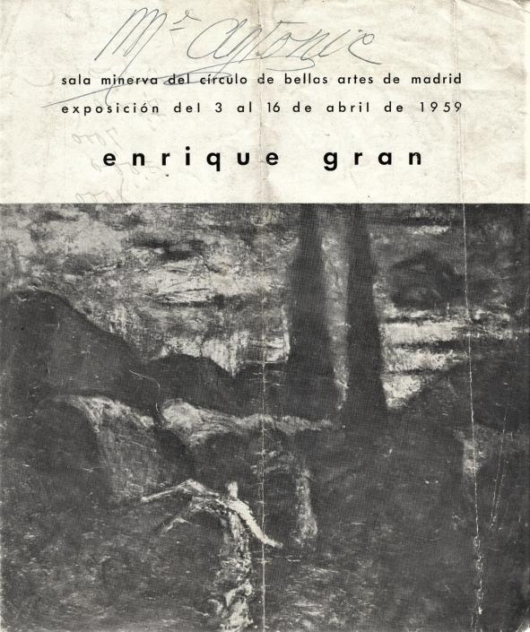 Enrique Gran/1959. Exposición individual
