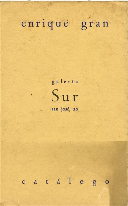 Enrique Gran/1963. Exposición individual Enrique Gran