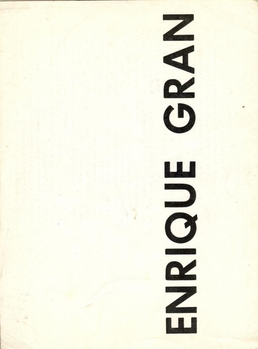 Enrique Gran/1967. Exposición individual