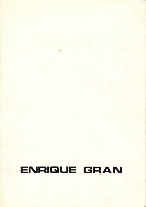 Enrique Gran/1974. Exposición individual Enrique Gran