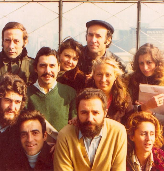 Nueva York: Matías Quetglas, Enrique Gómez Acebo, Cristino de Vera, María Antonio Quetglas, Carmen Laffon y Enrique Gran.