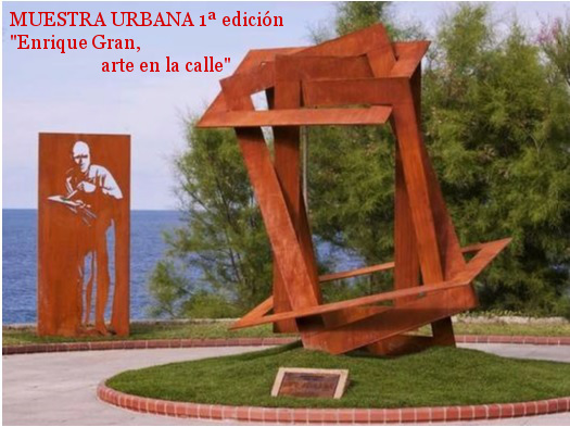 "Urban Expo , 1st edition. ""Enrique Gran, art in de street"". Around the Enrique Gran monument. Santander, 2013."