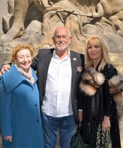 Princesa Elettra Marconi, Jesús Ferreiro y Begoña Merino. Colaboración entre la Fundación Titanic y la Fundación Enrique Gran. Palacio Orsi-Marconi. Bologna, 2015