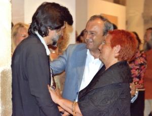 Víctor Erice, Javier López Marcano y Carmen Gran. Exposición Visiones Fantásticas. Centro de Estudios Lebaniegos. Gobierno de Cantabria. Potes, Cantabria, 2006