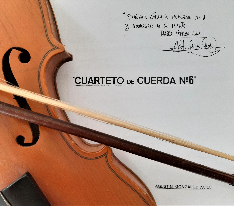 Festival Internacional de Santander 58 edición. Composición de González Acilu dedicada a Enrique Gran. Estreno absoluto. 2009