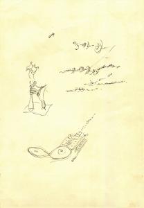 S/T. Tinta sobre papel 31 x 20 cm. Colección particular.