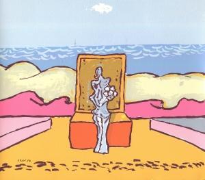 S/T (1987). Serigrafía estampada sobre cartulina, 22,50 x 24 cm. Colección particular.