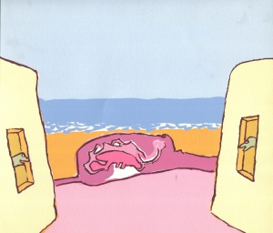 S/T (1987). Serigraphy printed on cardboard, 22.50 x 24 cm. Private collection.